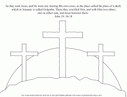 easter cross coloring page 485013