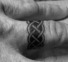 Christian Ring Tattoos 100 Celtic Knot Tattoos For Interwoven Design Ideas