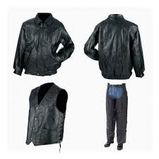 leather motorcycle vest mens leather motorcycle leather jacket vest chaps set davway