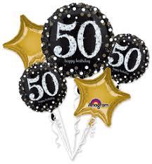 mylar balloon bouquets 50th birthday