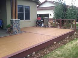 Wood Patio Deck Designs Backyard A Creekbed Runs Below The Two Floating Decks Backyard