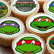 tmnt cake topper 24 edible cake toppers wafer rice paper tmnt mutant