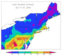 Snowfall Totals Map December Snow