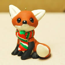 fox ornament easy to make with polymer clay fox rocks