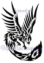 tribal phoenix couple tattoo design in 2017 real photo pictures