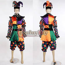 jester halloween costumes custom made harley quinn harlequin costume cosplay circus clown