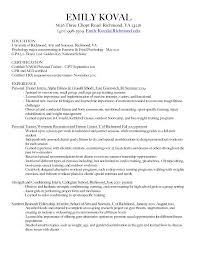 Sample Resume For Gym Instructor by Resume