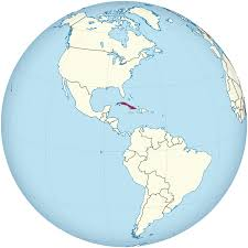 Cuba On A World Map by File Cuba On The Globe Americas Centered Svg Wikimedia Commons