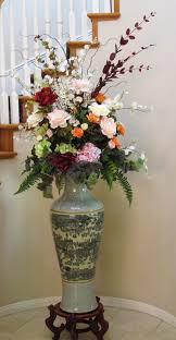 artificial flower arrangements tall silk arrangement of peonies