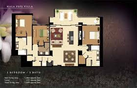 215 Square Feet Beach Villas At Ko Olina Floor Plans Hawaii Real Estate And