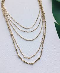 layer necklace images Nirvana wild cinco 5 layer necklace jpg