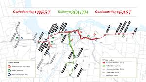 Map Of Ottawa Canada by Ottawa Council Approves Second Phase Of Light Rail Transit Plan