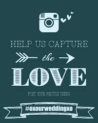 Wedding Signs Template Instagram Wedding Sign Wedding Hashtag Poster