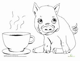 Pig Coloring Pages Printables Education Com Pig Coloring Pages