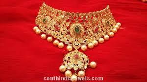 necklace choker design images Latest diamond choker design south india jewels jpg