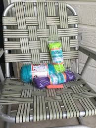 What Is A Lawn Chair How To Macrame A Vintage Lawn Chair How Tos Diy