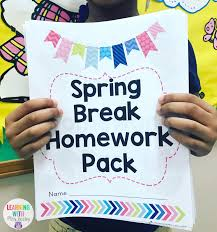 print and go spring break homework pack spring worksheets