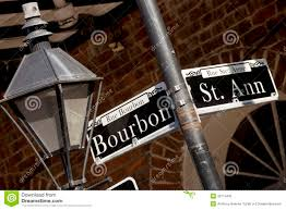 bourbon sign rue bourbon sign and st stock image image of