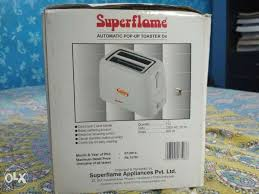 Toaster Box New White Superflame Automatic Pop Up Toaster Box