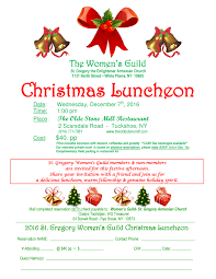 holiday lunch invitation st gregory women u0027s guild christmas luncheon st gregory the