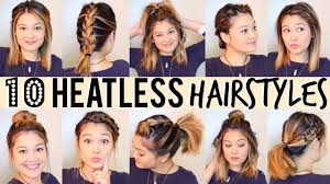 heatless hairstyles for thin hair 10 heatless hairstyles under 5 minutes youtube