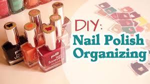 diy nail polish organizing youtube