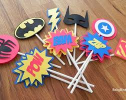 superhero superheroes birthday party banner bunting party