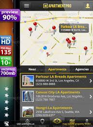 apartments real estate ui phone 5 retina 135 psds by