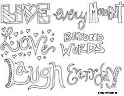 cute coloring pages tween girls sayings coloring