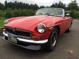 restored 1974 mg mgb mark iii chrome bumper