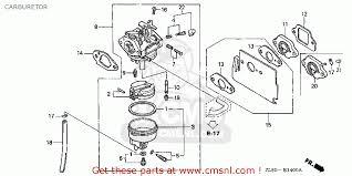 honda gc135 wme1 14zl81e4 carburetor schematic partsfiche