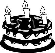 3yr birthday cake bw clip art at clker com vector clip art