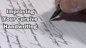 how write cursive handwriting improving your cursive handwriting