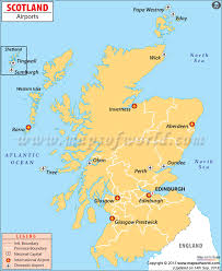 map of and scotland airports in scotland scotland airports map