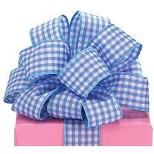 blue gingham ribbon blue gingham ribbon 1 yard