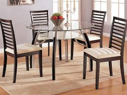 Oval Wooden Dining Table Designs Kitchen 4 Oval Back Dining Chairs And Glass Top Table Glass Top