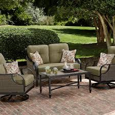 4 piece patio furniture sets la z boy outdoor charlotte 4 piece seating set green outdoor