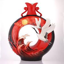 Franz Vase Franz Porcelain Cranes Vase Fz03409