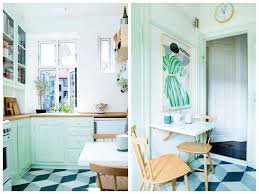 meuble cuisine vert pomme cuisine verte mur meubles électroménager déco clematc