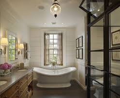 decorative touches for traditional bathroom designs lestnic elegant oval tub and glass lantern for superb traditional bathroom designs with white beadboard decorative touches