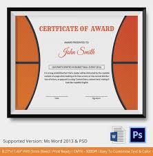10 basketball sports certificates certificate templatesfree