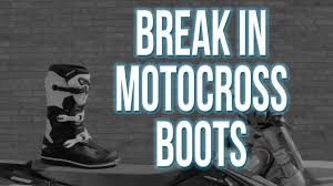 new motorcycle boots how to break in new motocross boots youtube