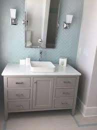the vanity is painted vanity soft gray sherwin williams sw7023
