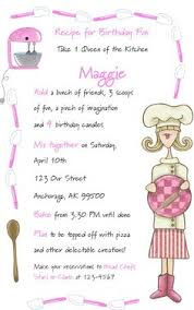 kids cooking party invitation baking party by paperhousedesigns