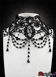 black beaded choker necklace images Restyle big black victorian burlesque gothic emo punk rock scene jpg