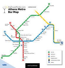 Metro Property Maps by The Ultimate Bar Crawl Athens U0027 First Ever Metro Bar Map U2014 The