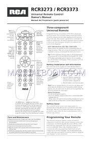 rca remote manual read online user u0027s manual for rca rcr3273 universal remote