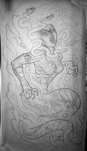 medusa drawing picture medusa drawing image
