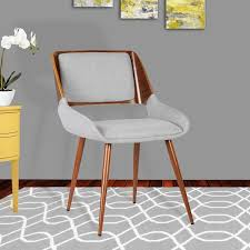 Midcentury Dining Chair Armen Living Panda Walnut Wood Mid Century Dining Chair Free