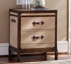 trunk style bedside tables redford trunk nightstand pottery barn